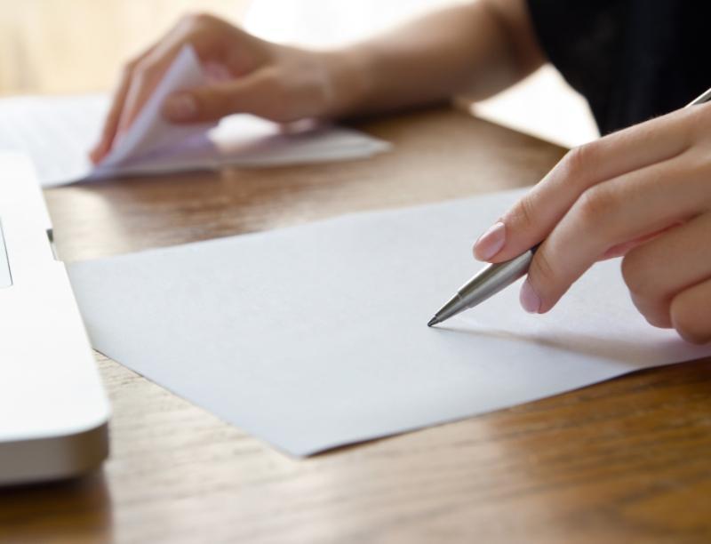 Pisanie długopisem